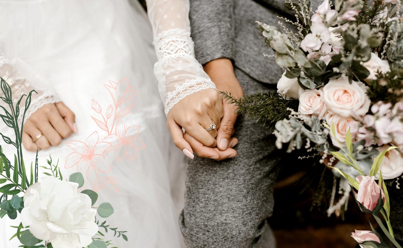 couples de jeunes mariés hésitant entre les différents types de mariage, de cérémonie et de régime matrimonial